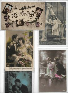 Romantic Couple RPPC Postcard Lot of 10 01.10