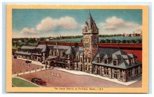 Postcard The Union Station at Portland ME Maine G33 * 2
