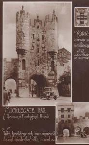 Yorkshire York Micklegate Bar Norman Plantagnet History Old Real Photo Postcard