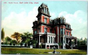 Salt Lake City, Utah Postcard GARDO HOUSE Mansion View c1910s Unused