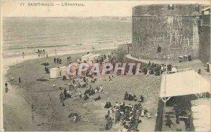 Old Postcard Saint Malo's Fan
