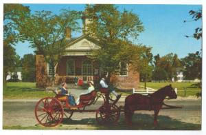 Williamsburg VA Courthouse Colonial Virginia Horse Carriage
