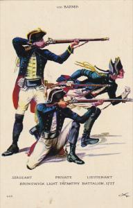 Brunswick Light Infantry Battalion 1777 Lt Colonel von Barner Fort Ticonderog...