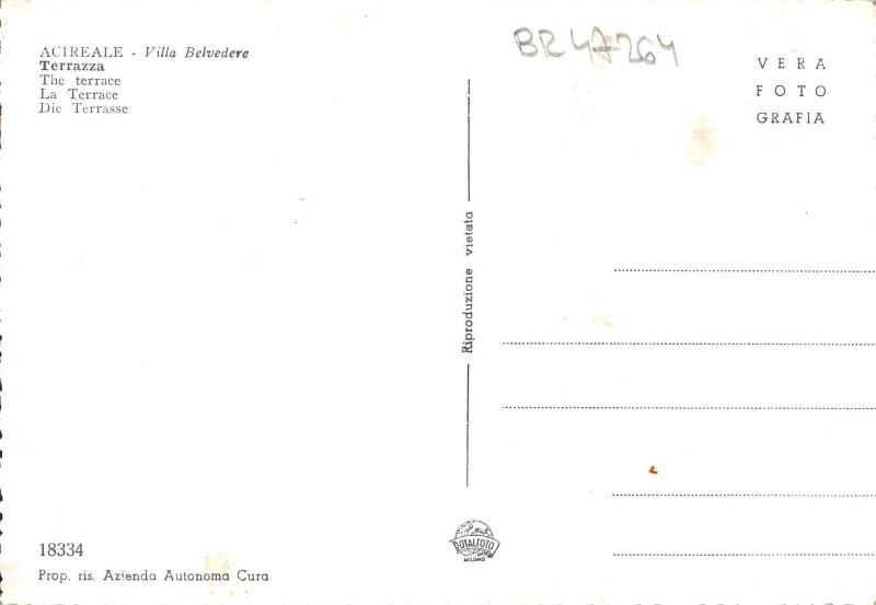 Br47264 Acireale Stazione Di Cura Italy Hippostcard