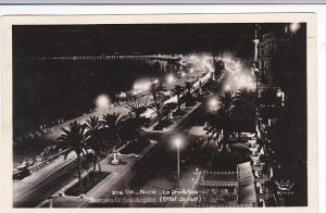 France Nice La Promenade At Night 1949 Real Photo