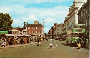 High Street Bedford England UK UNUSED Vintage Postcard D96