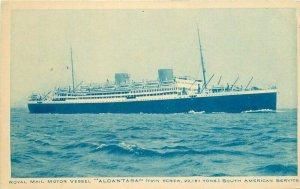 Alcantara Royal Mail Motor Vessel 1920s Steamship Postcard South Service 20-1180