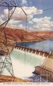 Washington Grand Coulee Dam The Mighty Columbia River Is Harnessed At Grand C...
