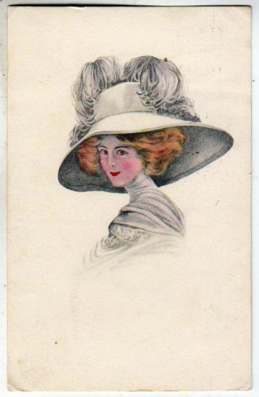 Woman with a Big Hat