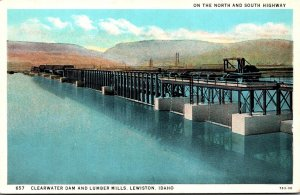 Idaho Lewiston Clearwater Dam and Lumber Mills Curteich