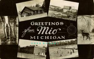 1935 Mio Michigan Multiview PC: High School, Camp, Power House, Etc. - Rare!