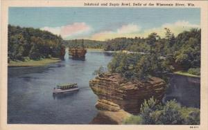 Wisconsin Dells Of The Wisconsin River Inkstand And Sugar Bowl