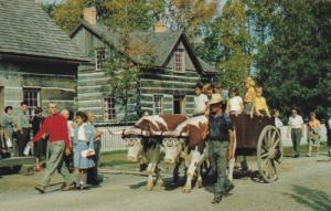 Riding in The Ox Cart, Upper Canada Village, MORRISBURG, Ontario, Canada, 40-60s