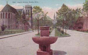 Nebraska Omaha Capitol Avenue West From 17th Street 1911