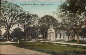 Saybrook CT Cong Church c1910 Postcard