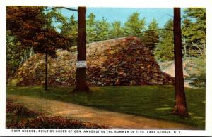 New York Lake George Fort George Built Summer Of 1759