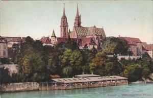 Switzerland Basel Muenster mit Pfalz