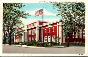 Pennsylvania Lock Haven Junior-Senior High School and Auditorium 1947 Curteich