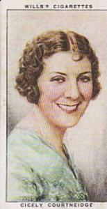 Wills Vintage Cigarette Card Radio Celebrities No 38 Cicely Courtneidge