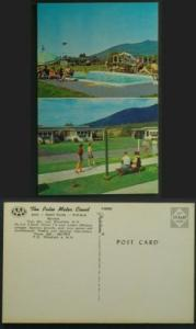 Patio Motor Ct Shuffleboard, Pool. Twin Mts NH c1950s