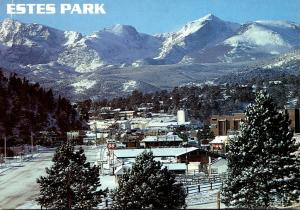 Colorado Estes Park At Wintertime
