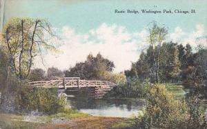 Illinois Chicago Rustic Bridge Washington Park
