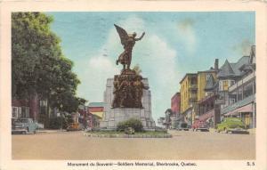 10077  Quebec Sherbrooke   Monument du Souvenir, Soldiers Memorial