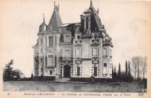 ECOMMOY SARTHE FRANCE LE CHATEAU DE CHARDONNEUX FACADE SUR LE PARC POSTCARD 1910
