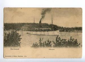 161181 Finland BAROSUND Oihonna Ship Vintage postcard