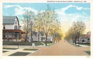 Boonville Indiana~Nice Main Street Homes~Big Wrap Around Porches~1927 Postcard