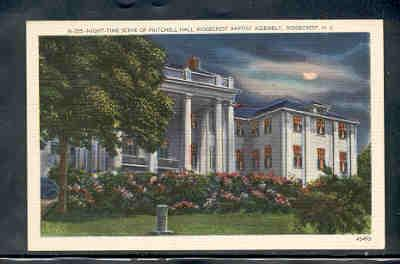 North Carolina postcard Pritchell  Ridgecrest Baptist