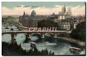 Old Postcard Paris Ile De La Cite