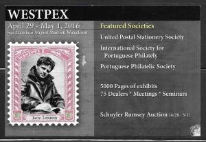 Westpex 2016 Stamp Show advertisement, mailed,