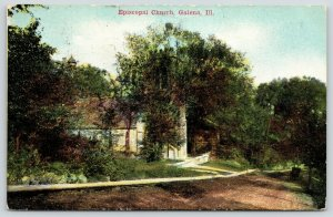 Galena Illinois~Dirt Road Downhill~Grace Episcopal Church~Prospect Street~1910