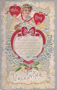 Valentine's Day Cupid With Red Bow 1909