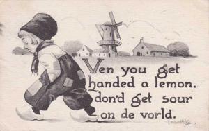 Ven you get handed a Lemon - Dutch Boy - a/s Bernhardt Wall  - pm 1942