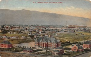 H83/ Pocatello Idaho Postcard c1910 General Birdseye View School Factory 63