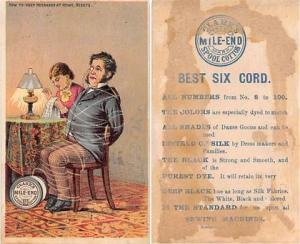 approx size inches = 2.75 x 4.5 Trade Card, Tradecard