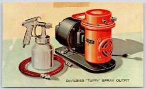 Toledo Ohio~DeVilbiss Company~Tuffy Spray Outfit~Painter~1950 Adv Postcard