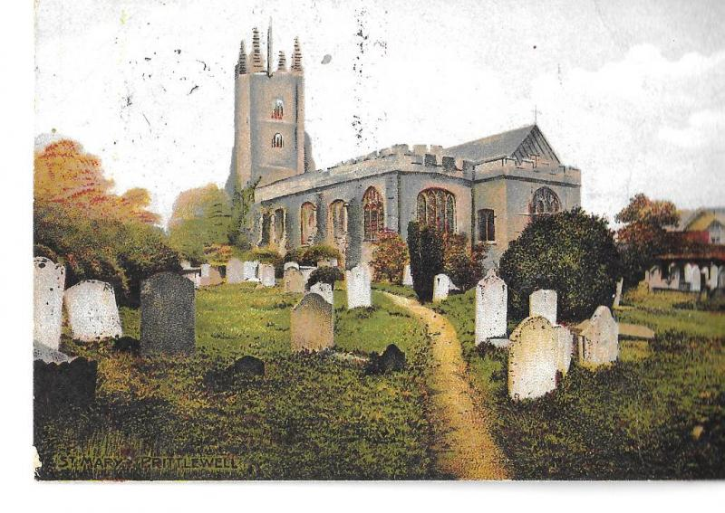 England  St Mary's Church,Prittlewell,Essex, posted c 1905-postally used #273