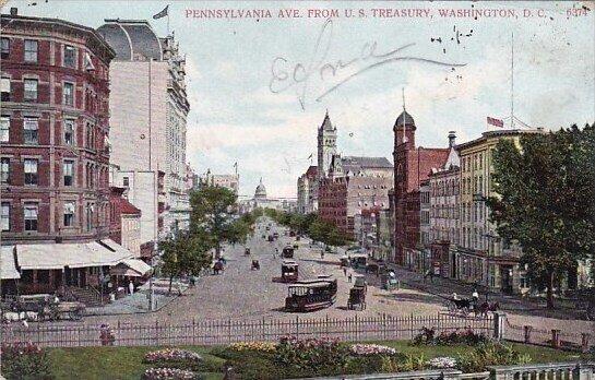 Pennsylvania Avenue From U S Treasury Washington D C 1908