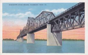 Mississippi River Bridge, Vicksburg, Mississippi, 30-40's