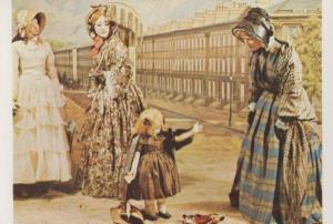 Great Pulteney Street 1850s Womans Realm Assembly Rooms Bath Fashion Postcard