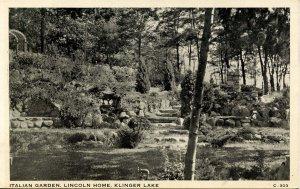 MI - Klinger Lake. Italian Garden, Lincoln Home