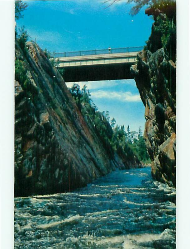 Lake Superior Canadian Montreal River Bridge Hwy George Cliffs  Postcard # 8577