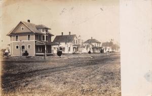 Yale Iowa~RPPC New Homes Along a Grassy Road~1908