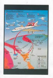 Diagram: Last Minutes of FLIGHT 007 downed by USSR 1983