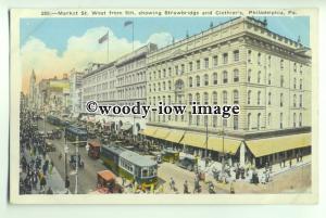 ft1356 - USA - Philadelphia - Market St West from 8th - postcard