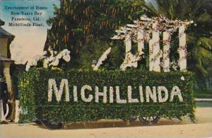 California Pasadena Tournament Of Roses New Years Day Michillinda Float