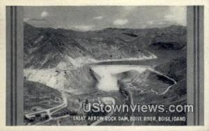 Great Arrow Rock Dam Boise ID 1945